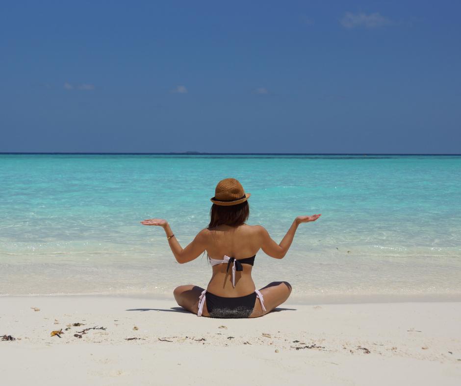 Meditazione e respiro per eliminare l'ansia in questo periodo di stress.C